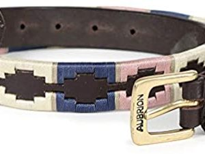 Shires Drover Skinny Polo Belt – Navy/Pink/Natural