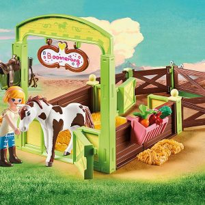Playmobil – Abigail & Boomerang with Horse Stall