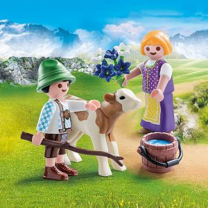 Playmobil – Children with Calf