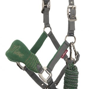 LeMieux Vogue Fleece Headcollar & Leadrope – Hunter Green