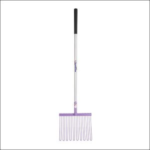 Fyna-Lite Rubber Matting Fork Long Hardwood Handle – Purple