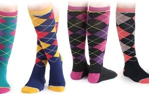 Shires Ladies Argyle Sock