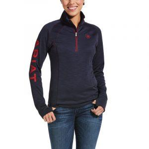 Ariat Ladies Tek Team 1/2 Zip Sweatshirt – Navy Heather