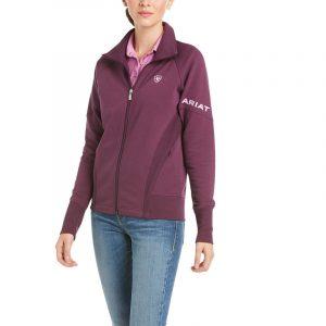 Ariat Ladies Largo Full Zip Sweatshirt – Italian Plum