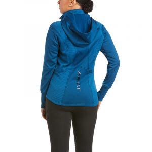 Ariat Ladies Wilde Full Zip Sweatshirt – Blue Opal