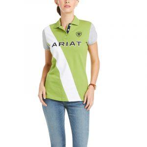 Ariat Ladies Taryn Button Polo – Peridot