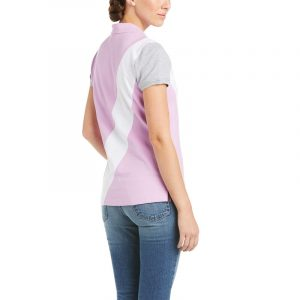 Ariat Ladies Taryn Button Polo – Violet Tulle