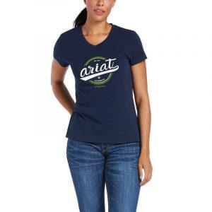Ariat Ladies Authentic Logo Tee – Navy