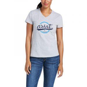 Ariat Ladies Authentic Logo Tee – Heather Grey