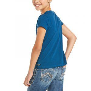 Ariat Kids Unicorn Moon T-Shirt – Blue Opal