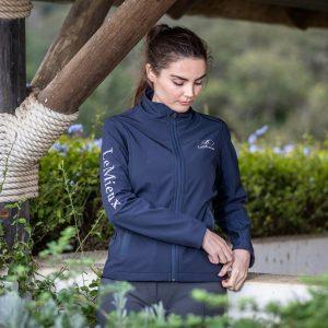 Team LeMieux Ladies Softshell Jacket – Navy