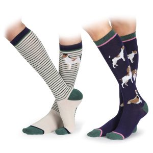 Shires Adults Bamboo Socks – Dog Design