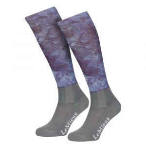 LeMieux Adult Glace Socks – Navy