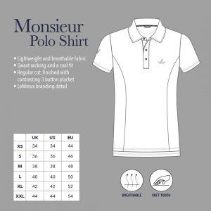LeMieux Monsieur Mens Polo Shirt – Navy