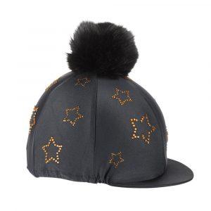 Shires Diamante Star Hat Cover – Black