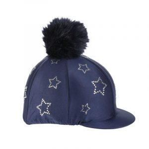 Shires Diamante Star Hat Cover – Navy