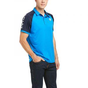 Ariat Mens Team 3.0 Short Sleeve Polo – Imperial Blue