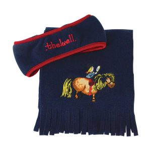 Hy Equestrian Thelwell Collection Fleece Headband & Scarf Set