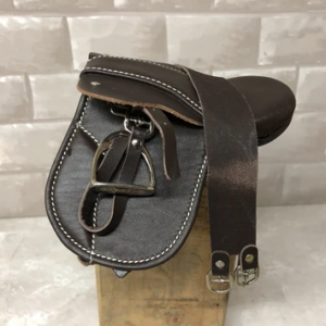 Crafty Ponies Brown Leather Saddle