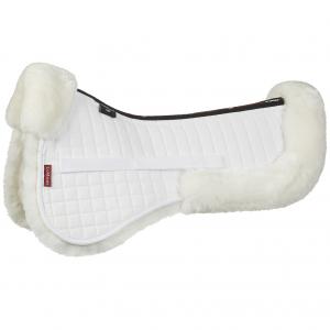 LeMieux ProLambskin Dressage Half Pad – White/White
