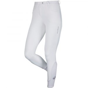 Ladies My LeMieux Dynamique Full Seat Breeches – White