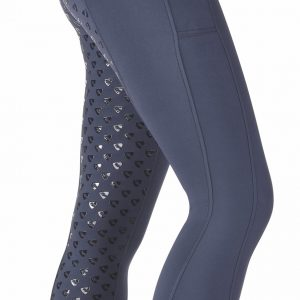 Ladies Shires Aubrion Albany Riding Tights – Navy