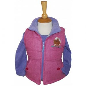 British Country Collection Gilet – Pink Tweed
