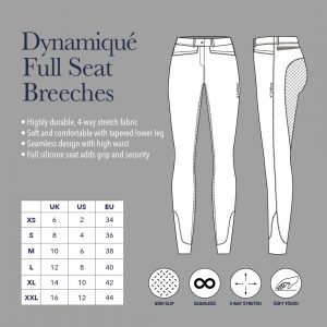 Ladies My LeMieux Dynamique Full Seat Breeches – Ice Grey