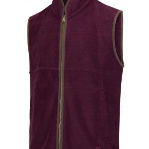 Hoggs Of Fife Men's Stenton Technical Fleece Gilet – Merlot