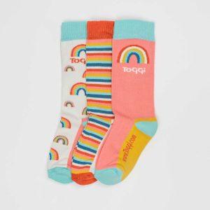 Toggi Socks – Kids – 3 Pack – Rainbow