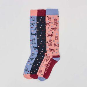 Toggi Socks – Ladies – 3 Pack – Multi Dog