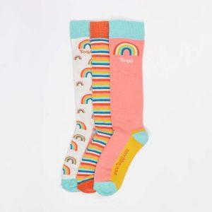 Toggi Socks – Ladies – 3 Pack – Rainbow