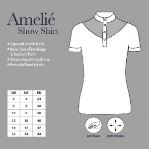 Ladies My LeMieux Amelie Diamante Show Shirt – White