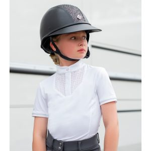 Childrens LeMieux Young Rider Belle Show Shirt – White