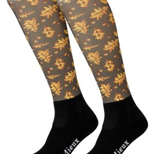 LeMieux Adult Footsie Sock – Oak Leaves