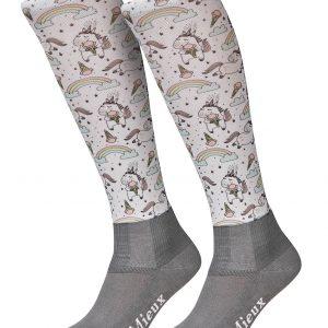 LeMieux Junior Footsie Sock – Unicorn Rainbows