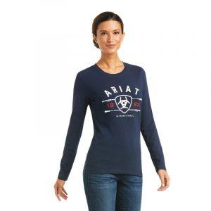 Ariat Ladies International Logo T-Shirt – Navy