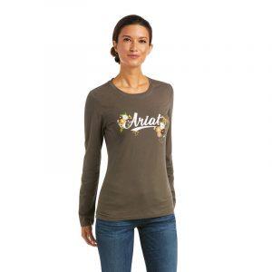 Ariat Ladies Flora Fauna Logo T-Shirt – Banyan Bark