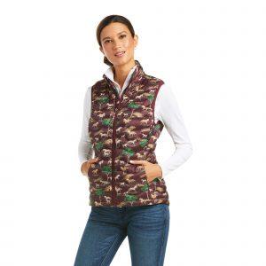 Ariat Ladies Ideal Down 3.0 Vest – Pasture Print