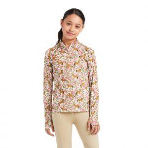 Ariat Kids Lowell 2.0 1/4 Zip Baselayer – Sea Salt Floral