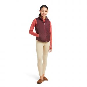 Ariat Kids Emma Reversible Insulated Vest – Navy Floral Horse