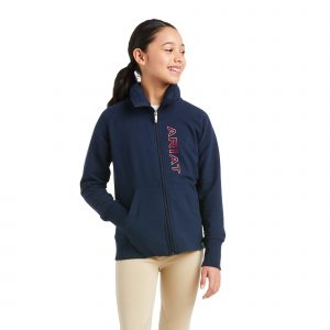 Ariat Kids Team Logo Full Zip Sweatshirt – Team