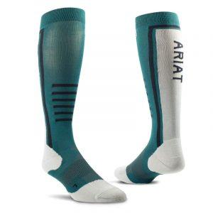 AriatTEK Ladies Slimline Performance Socks – Eurasian Teal/Sea Salt
