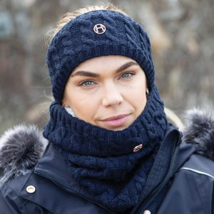 Equetech Cable Knit Headband – Navy