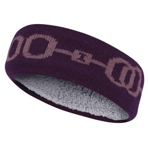 Equetech Horsebit Knit Headband – Plum/Primrose