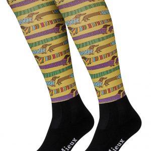 LeMieux Adult Footsie Sock – Sausage dogs