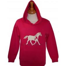 British Country Collection Hoodie – Champion Pony – Fuchsia