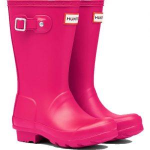 Hunter Kids Wellington Boot – Bright Pink