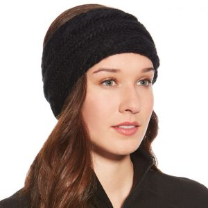 Ariat Ladies Cable Headband – Black