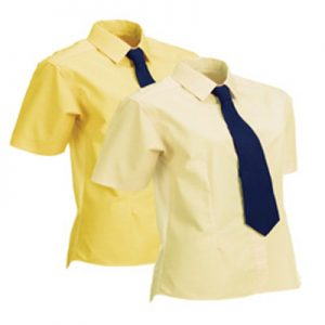 Ladies Equetech Flexion Stretch Show Shirt- Canary